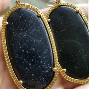 Kendra Scott Blue Goldstone Danielle Earrings